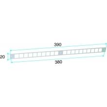 Supporto Modulo per Ingressi Nero Ral 9005